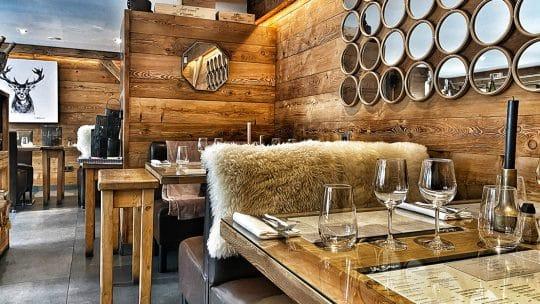 Restaurant ambiance chalet Chamonix