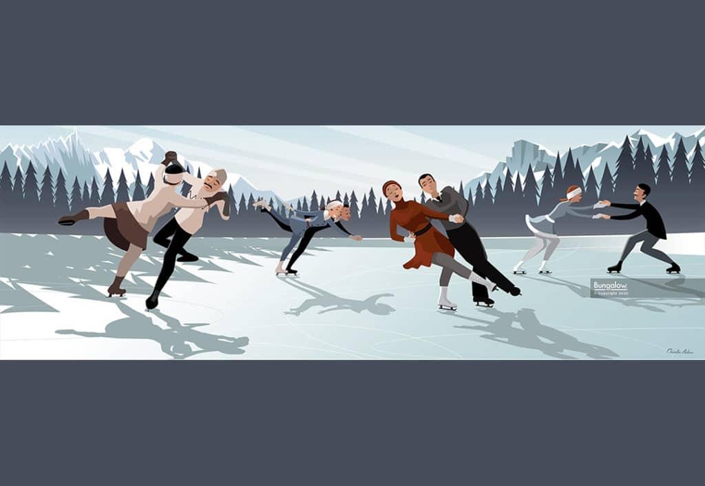 Bungalow graphics marché de Noël chamonix