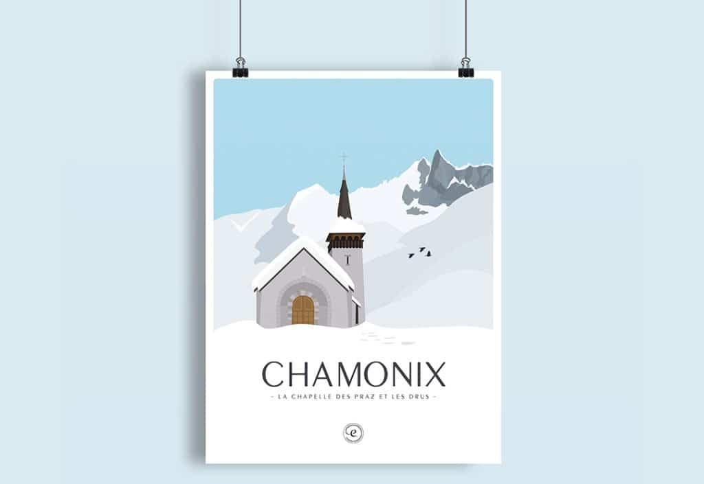 Marché de Noël Chamonix, encrages illustration