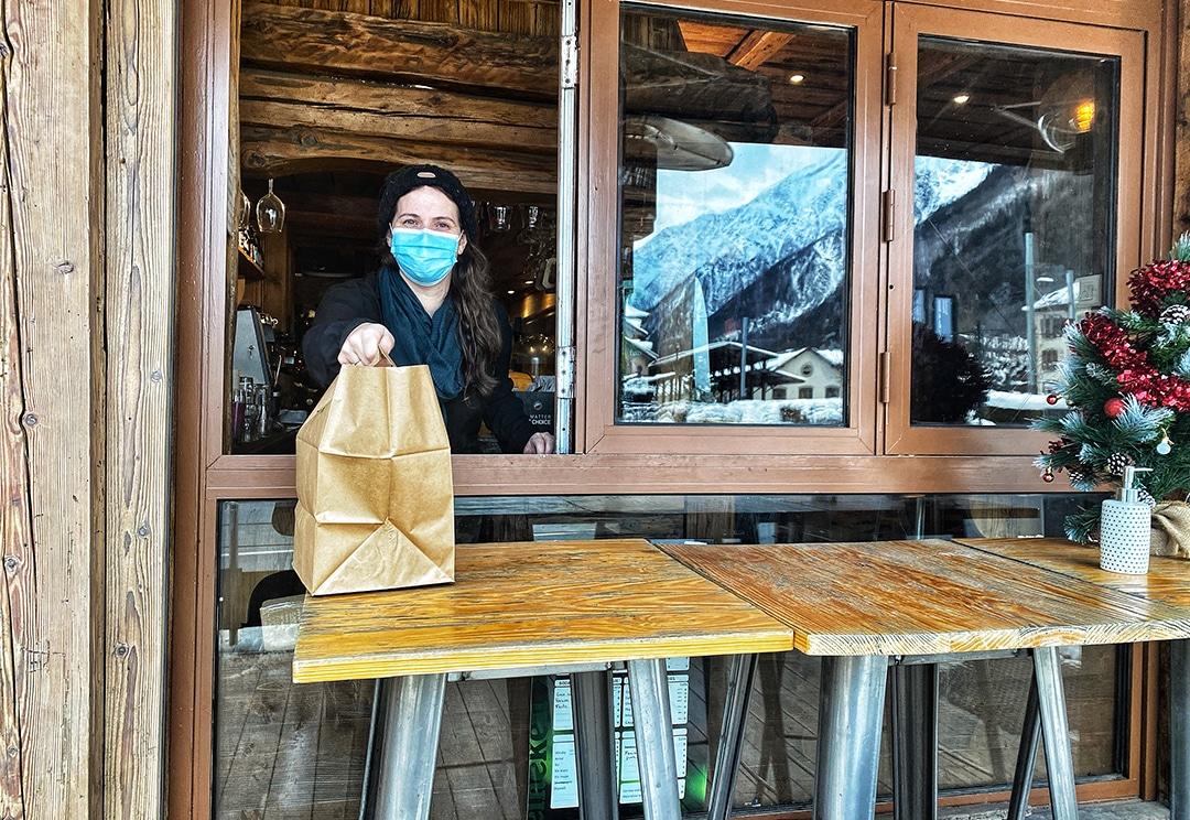 Déjeuner à emporter Contre temps Chamonix