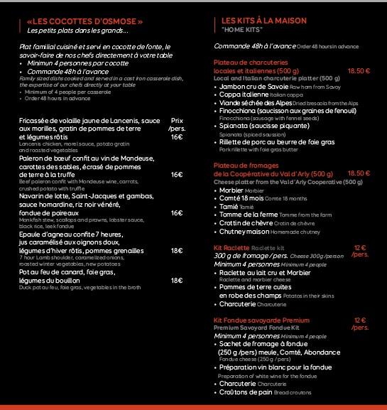Osmose Cuisine Chamonix