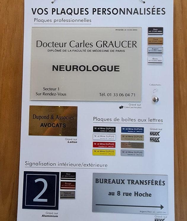 plaques signalétiques Chamonix