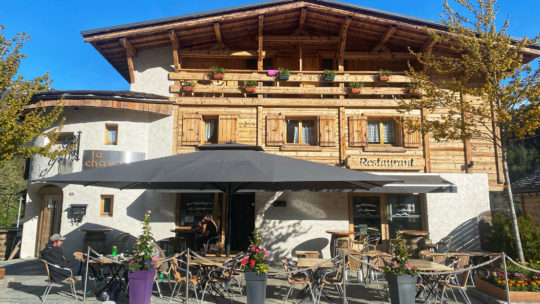 terrasse en vallée de Chamonix