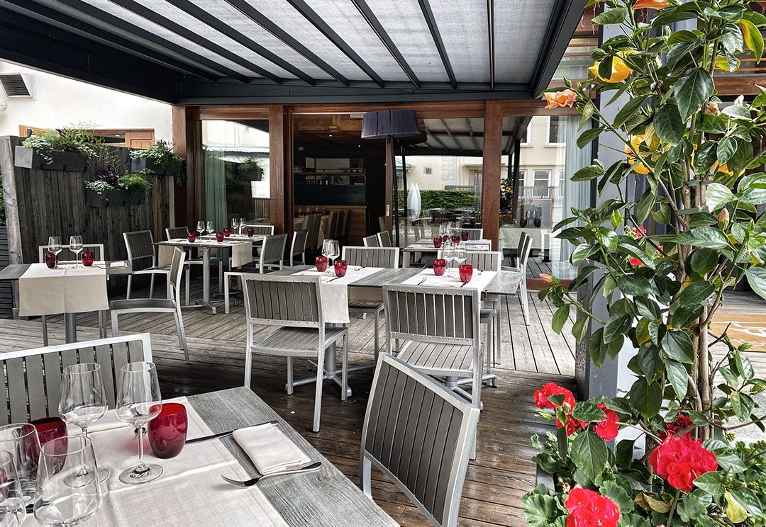 terrasse abritée et ombragée Chamonix