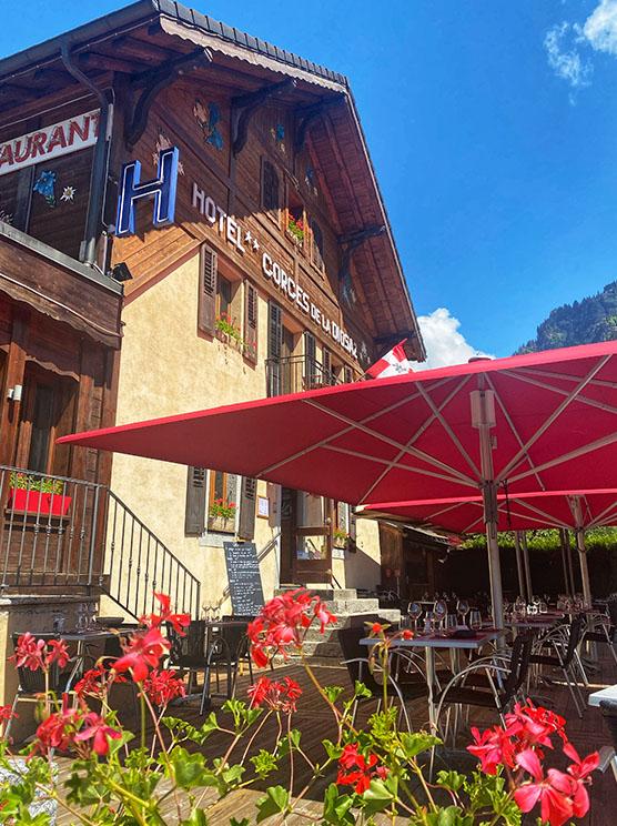 terrasse ensoleillée VAllée de Chamonix