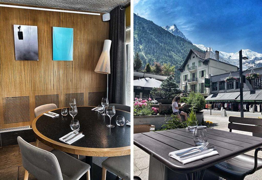 salle et terrasse le Comptoir Chamonix
