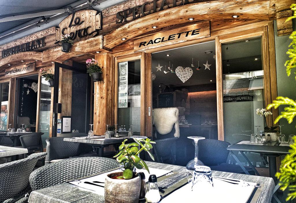 terrasse restaurant chamonix