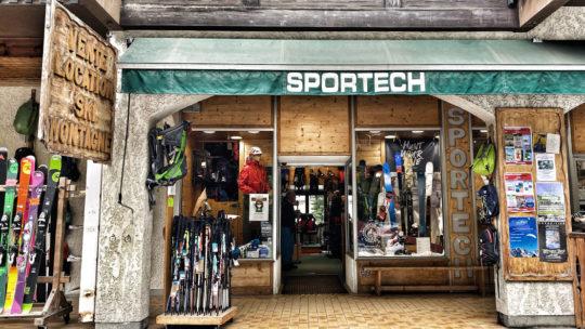 magasin de sport de montagne sportech Argentière