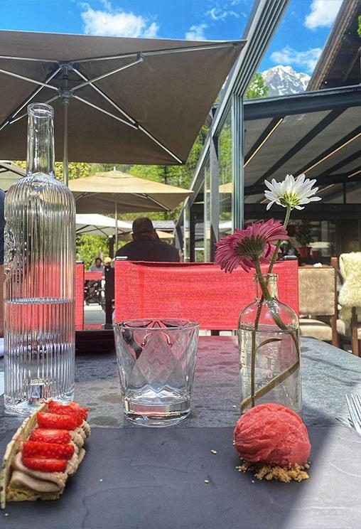 déjeuner au Castel Chamonix