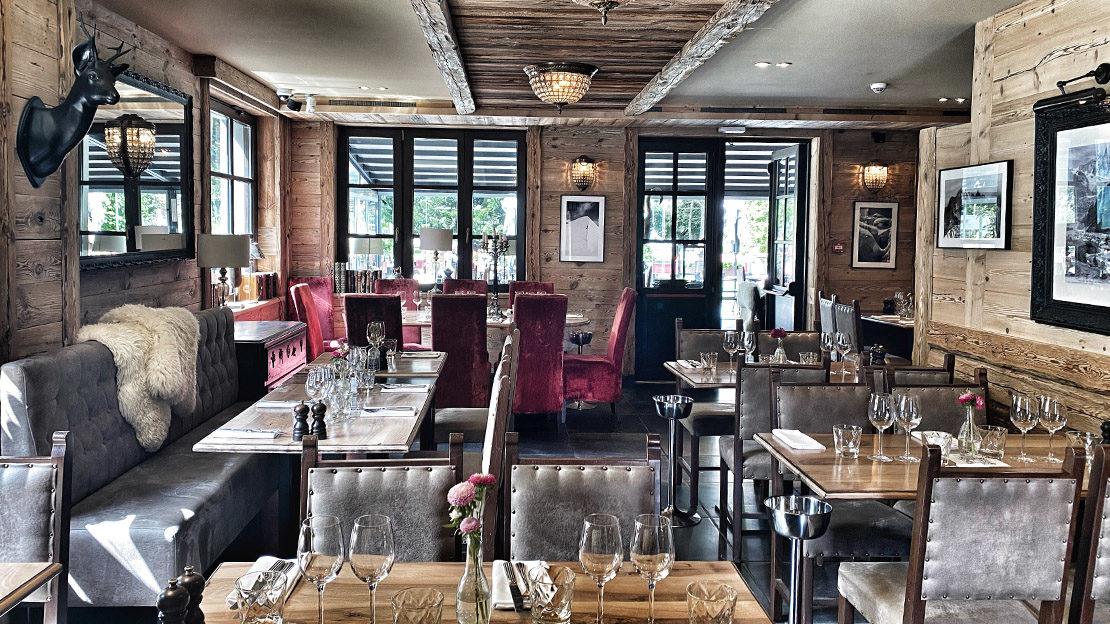 restaurant de Chamonix avec vue